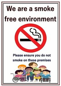 image is loading a4 poster sign no smoking educational sen children