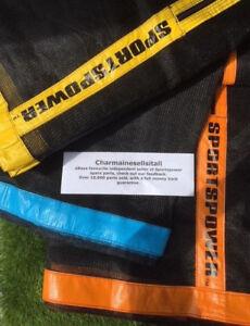 NEW-Sportspower-8-10-12-14-ft-Trampoline-ENCLOSURE-NET-NETTING-Replacement-Part