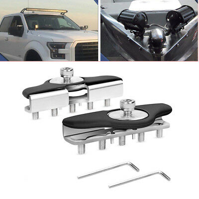 Universal Hood Mounting Brackets Led Work light Bars Clamp Holder For Jeep Truck