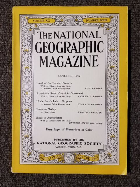 National Geographic Magazine October 1946 Americans Stand Guard in Greenland