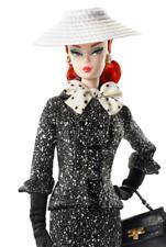 Black White Tweed Suit Silkstone Red Head Barbie Doll With Handbag Hat Charms