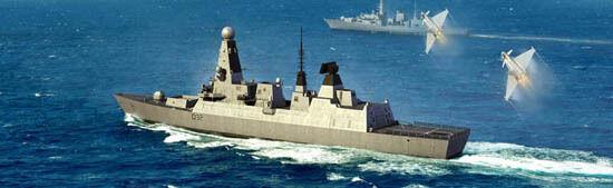 Trumpeter 1 350 04550 HMS Daring Type 45 Destroyer Static model
