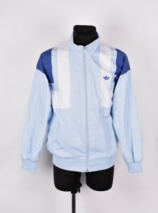 Adidas-Vintage-Retro-Hommes-Tricot-Veste-de-Survetement-Taille-I-50-UK-5-27-9cm
