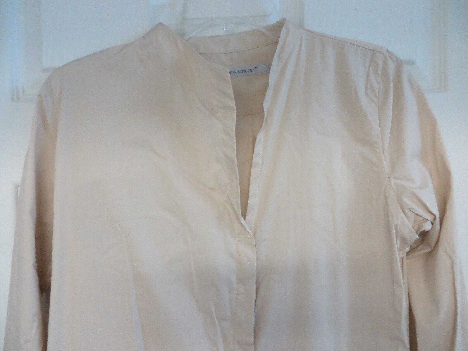CLEMENS CLEMENS CLEMENS  EN AUGUST Austria  38 cotton stretch shirt  dress khaki 436060