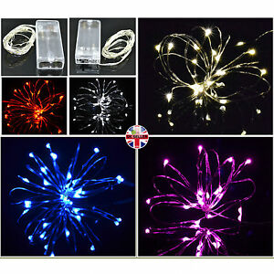 Micro-LED-Silver-Wire-Battery-Operated-Fairy-Lights-Waterproof-AA-amp-USB-Powered