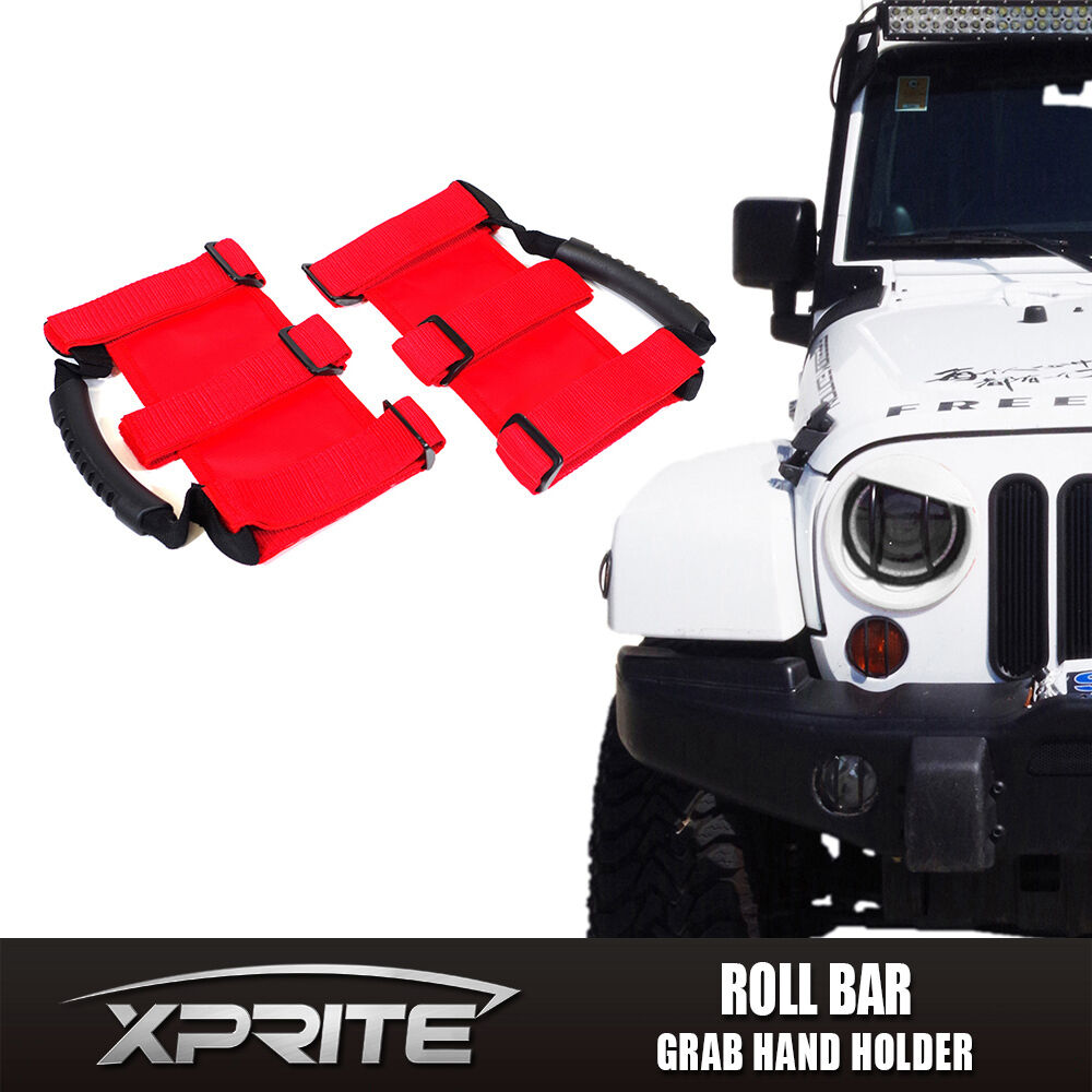 Red Rear Grab bar Grab Handles Grip Handle For Jeep Wrangler JK 2007-2018
