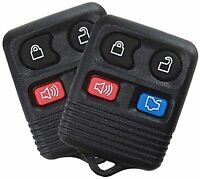 Best Replacement Keyless Entry Remote 4 Button Key For Ford Car Truck 2 Pack