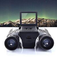 12x32 Hd Black Binoculars Telescope Folding With Built-in Digital Camera