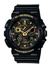 Mens Watch GA 100CF 1A9ER By Casio G Shock Black Tiger Camouflage