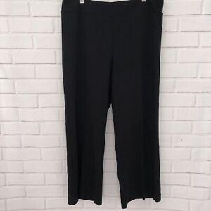 Ann-Taylor-Black-Wide-Leg-Pants-Trousers-Slacks-Size-XL-Pull-On-Stretch