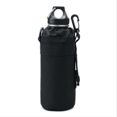 Men Tactical Molle Large Water Bottle Pouch Kettle Pack for Hiking Camping RE