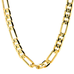 84710237a2f68 Details about 8 mm 24k Fashion Yellow Gold Plated Figaro Chain Necklace  20'22'24'26'28 inches