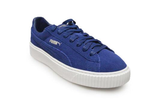 Womens White Platform Puma Suede Blue Trainers 36222302 qnHpOBxq