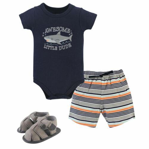 3-Piece Set Shark Hudson Baby Boy Bodysuit Shorts and Shoes