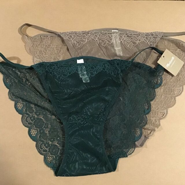 4ccaad2a02a NWT 2 Madewell by J CREW WOMEN S Lace String Bikini Panties Underwear size  XL