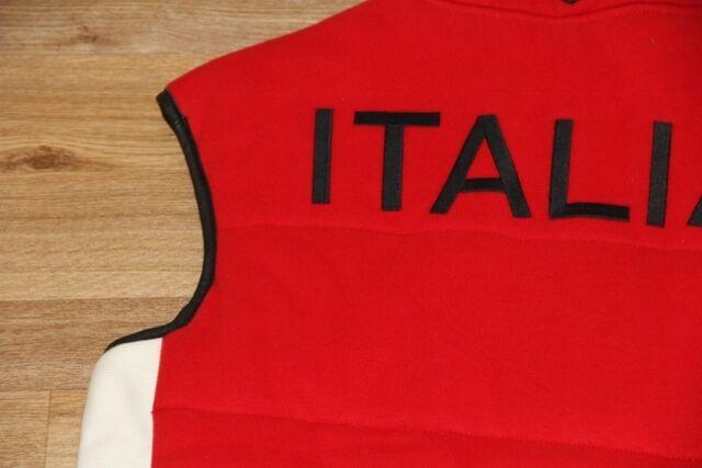 Ralph Lauren Down Quilted Fleece Vest ROT  Italia Big Pony Vest men Large L