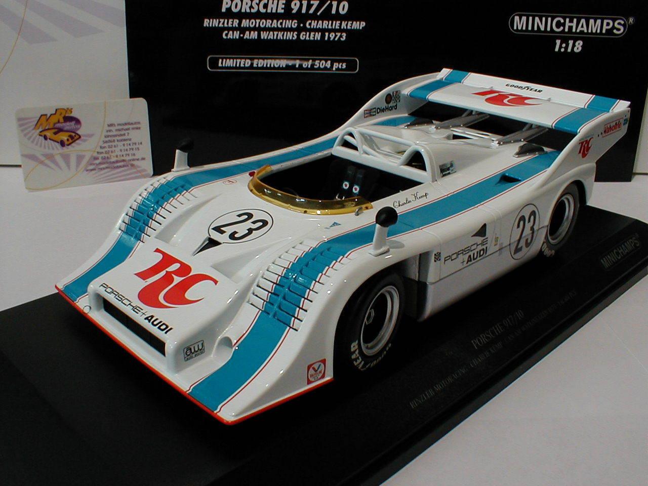 Minichamps 155736523   Porsche 917 10 Can-Am Watkins Glen 1973 No.23 Kemp 1 18