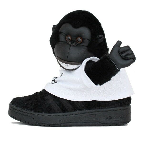 Adidas Originals Jeremy Scott Gorilla Para Hombre X Negro V24424 Panda Wings Bear Raro