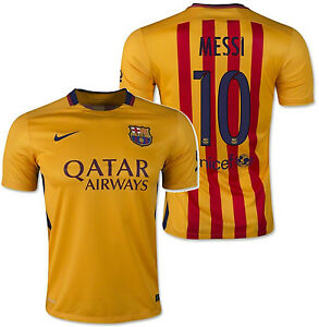 low priced 712eb 340fb Details about NIKE LIONEL MESSI FC BARCELONA AWAY JERSEY 2015/16.