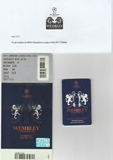 2011 EUROPEAN CHAMPIONS LEAGUE FINAL Barcelona v Man Utd Match Ticket at Wembley