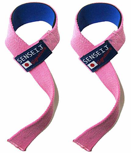 Rose Haltérophilie Poignet Bretelles Rembourré Entraînement Gym Exercice 1 Paire Pour Femmes