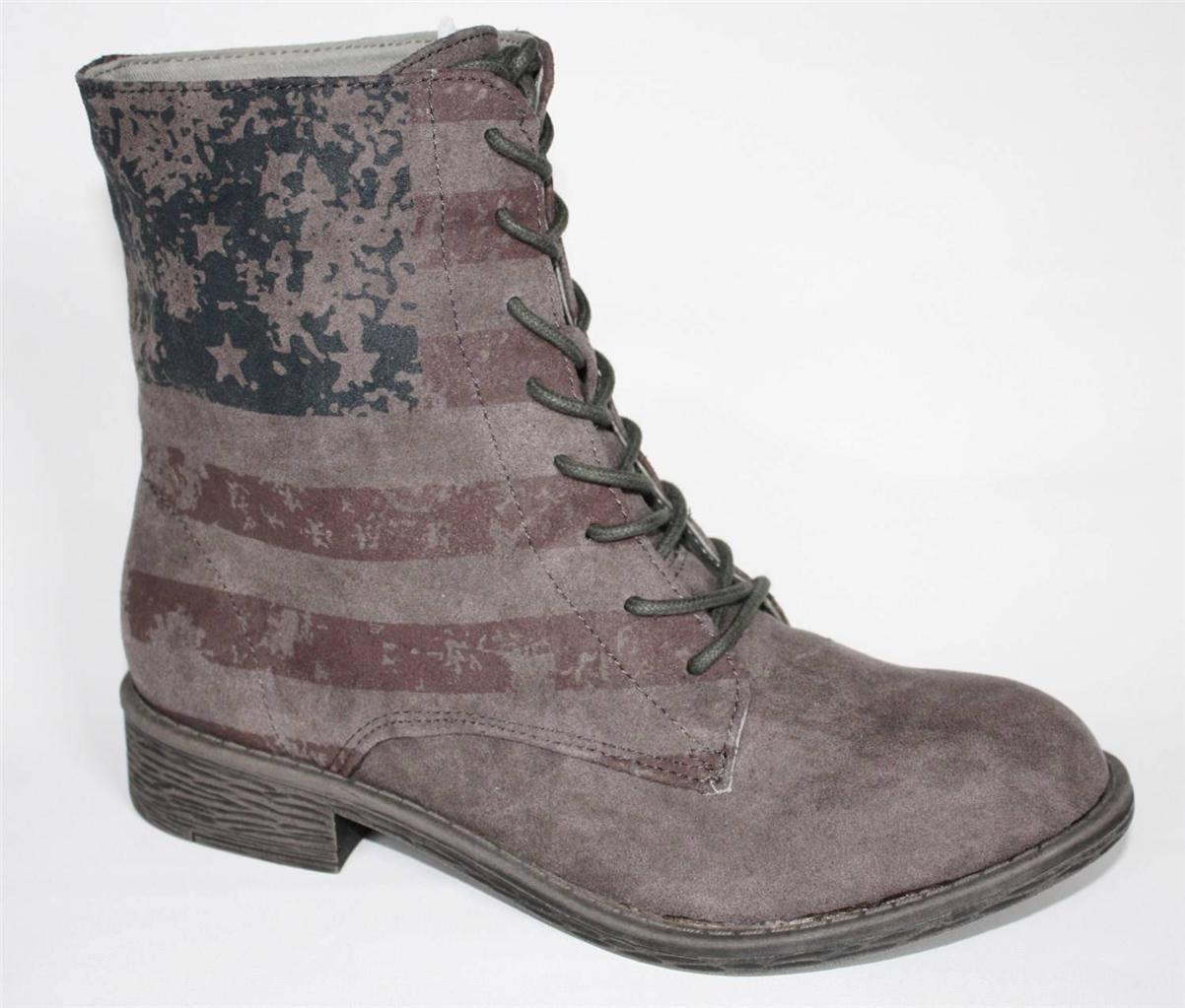 Zapatos Para Mujer Rock & Candy por Zigi Shia Shia Shia bota de combate con Cordones Gryse American Pride  grandes ahorros