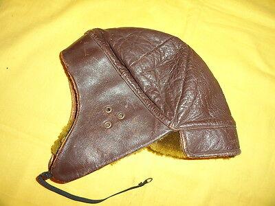 Ancienne casquette,casque en cuir souple,terrot,triumph,peugeot,torpedo…