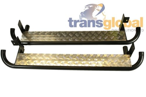 Land Rover Defender 90 Anti Slip Chequer Plate Side Runners Steps Bearmach