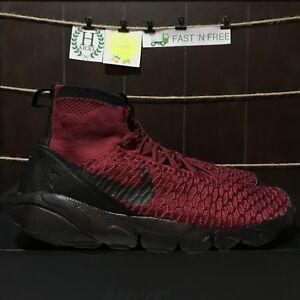 Nike Air Footscape Magista FK FC Team Red Black Gold Maroon 830600 ... 6085f649a0c9b