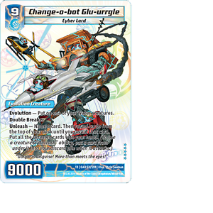 Kaijudo-1X-CHANGE-O-BOT-GLU-URRGLE-Super-Rare-S3-S10-13GAU-Quest-Gauntlet-2014