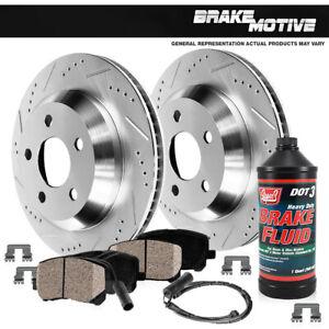 Rear-Drill-Slot-Brake-Rotors-Ceramic-Pads-For-2011-2012-2013-BMW-328-328i-xDrive