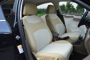 2 Car Housses Semi-custom Polyester Compatible à Jeep 860 Tan Attrayant Et Durable