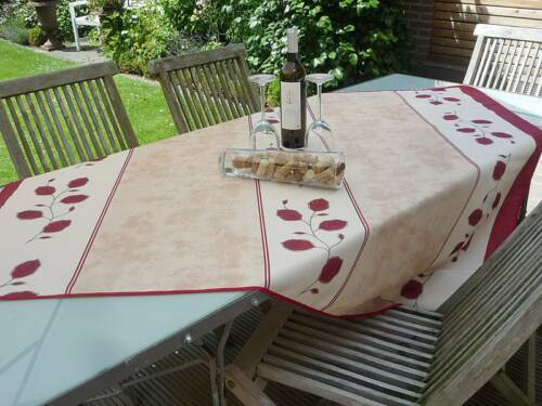 Nappe 100x150 cm beige rouge France Provence facile à nettoyer et disponible
