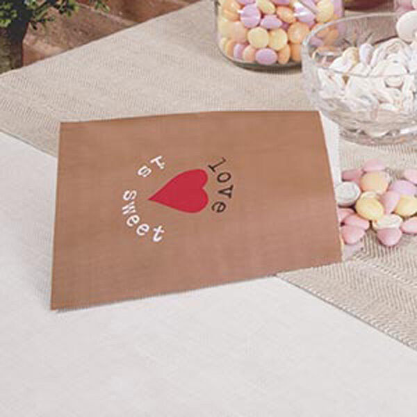 Just My Type Vintage Design Wedding Sweetie Candy Buffet Favour Brown Gift Bags