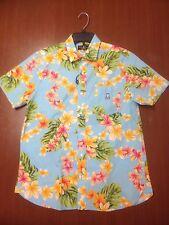 Aloha shirt, Mans, Size M, Psycho Bunny, short - sleeve 100% pima Cotton, Peru