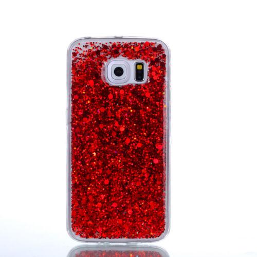De Lujo Brillante Ostentoso Colorido Teléfono Delgado Suave TPU funda para Samsung iPhone