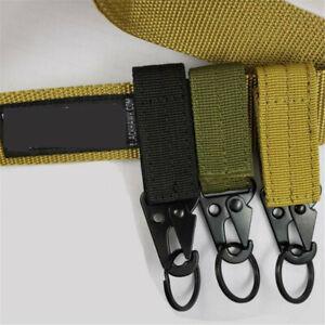 Hot-Military-Nylon-Key-Hook-Webbing-Molle-Buckle-Hanging-Belt-Carabiner-Clip-Q8