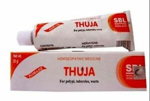 3-SBL-THUJA-HOMEOPATHIC-CREAM-Ointment-Polypi-Tubercles-and-Warts-25gm-HERBAL