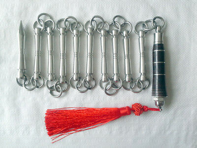 Kung Fu China Train Stainless Steel Nine-section Whip ...
