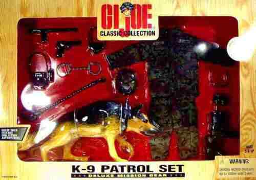 "12/"" GI JOE K-9 PATTUGLIA missione Gear Set NUOVO 1998 Hasbro German Shepard amricons"