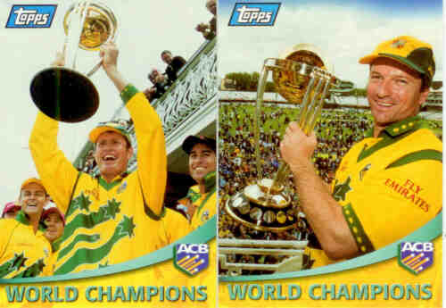 2000 Topps ACB Gold Cricket Trading Cards Promo Set 2Rare!