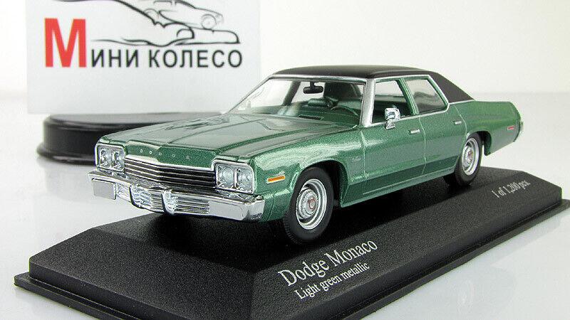 Échelle Voiture 1 43, Dodge Monaco 1974 vert métallisé