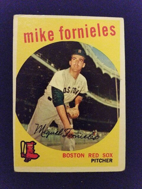 1959 Topps Baseball Card # 473 Mike Fornieles - Boston Red Sox