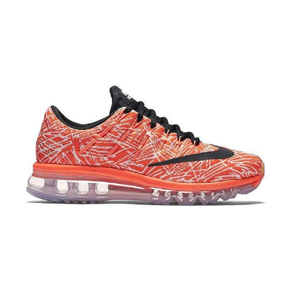 Damen Nike Air Max 2016 Aufdruck Laufen Orange Turnschuhe 818101 800