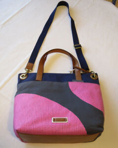 Fossil-ZB6932339-Keely-Tote-Pink-Dots-Bag-Multi-purse-canvas-leather-strap-NWT