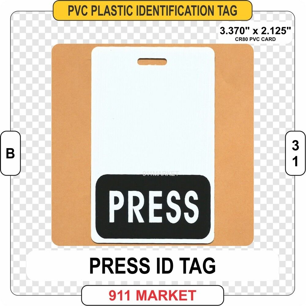 Writer Tag Press Badge Id For - Identification Online B31 Reporter Sale Newspaper Ebay Card Cameraman
