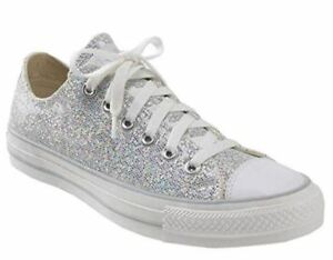 017d1578952a Image is loading Converse-Chuck-Taylor-Silver-Glitter-Shoes-135851C-Siz-