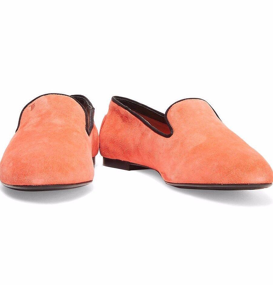 Nueva con caja Tod'S Faille Tapizados Gamuza Gamuza Gamuza Zapatillas Para Mujer Coral US11 EU41 UK8  465  n ° 1 en línea