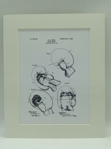 Vintage Patent Print Drawing Boxing Glove Display 1898 10 X 8 TYSON ALI