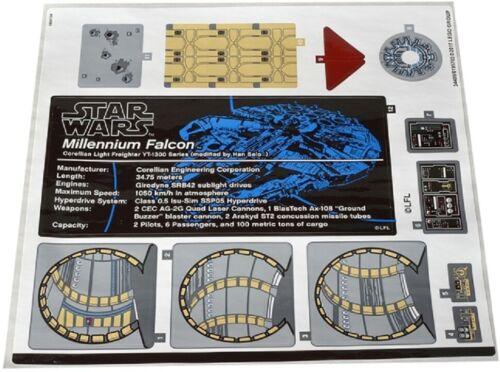 Lego Star Wars Sticker for set 75192 Millenium Falcon UCS Autocollant New